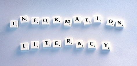 information literacy with scrabble tiles